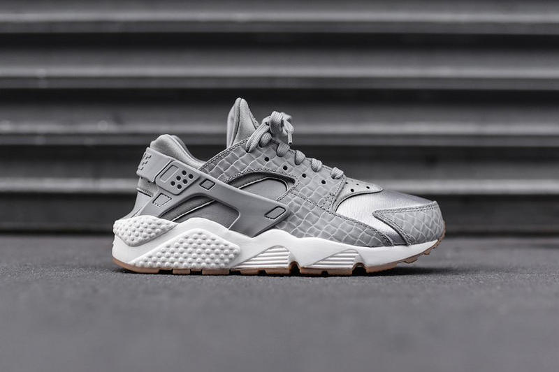 7e15ee4354e3 Shop Nike Air Huarache Run Premium Wolf Grey