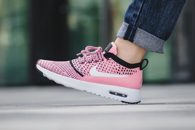 reputable site 9a369 d4f0f Nike Air Max Thea Flyknit Bright Melon Black White