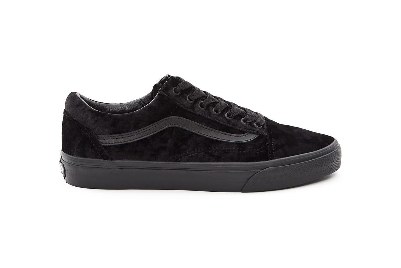black velvet vans slip on