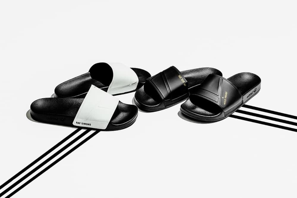 466ae97d5e7f6e adidas Raf Simons adilette Slides white black