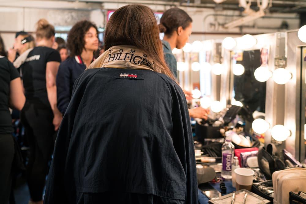 backstage bts gigi hadid tommy hilfiger tommyland bella