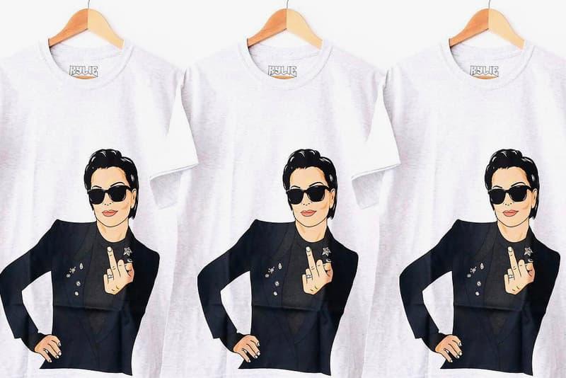 Kylie Jenner Merch Kris Jenner Middle Finger Tshirt