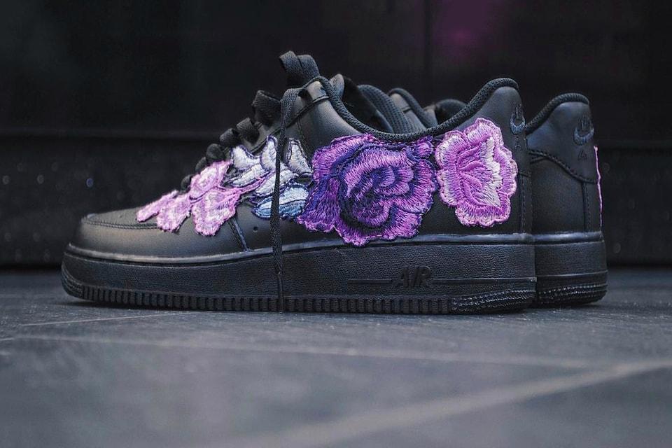 fde4147f02e434 Purple Love on This Nike Air Force 1 Flowerbomb Custom