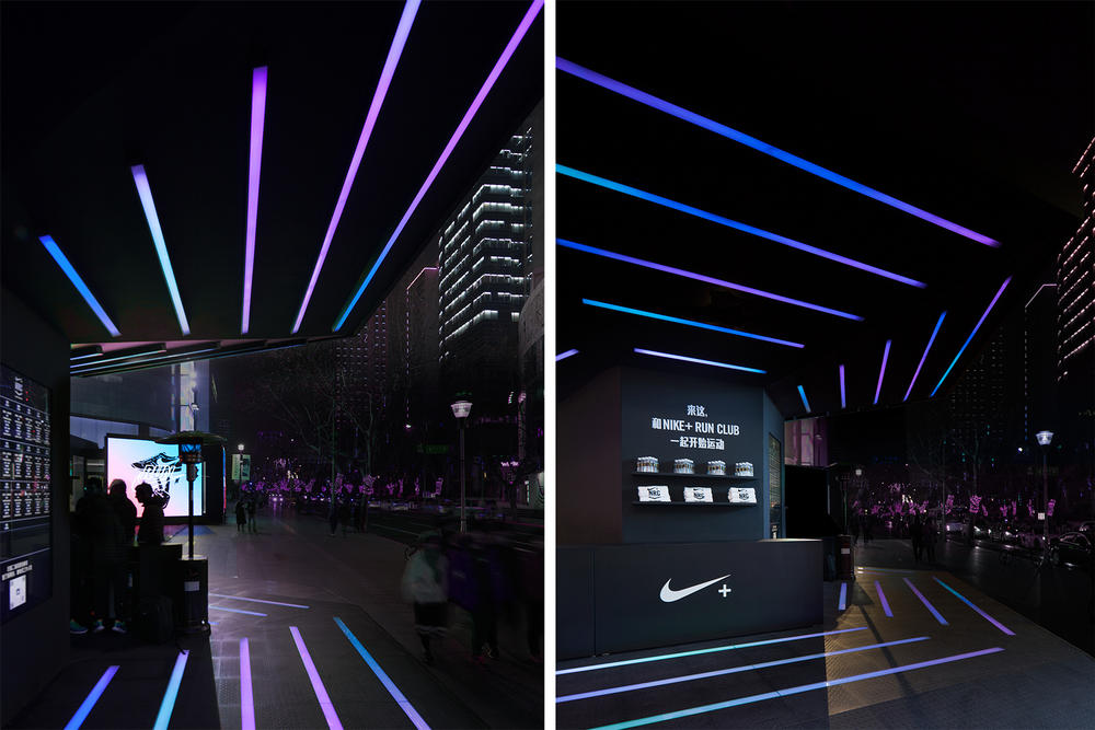 nike run club shanghai pop up running