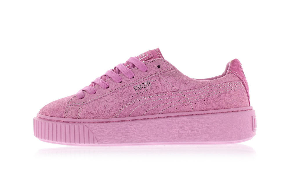 PUMA Basket Platform Reset Pink Gray