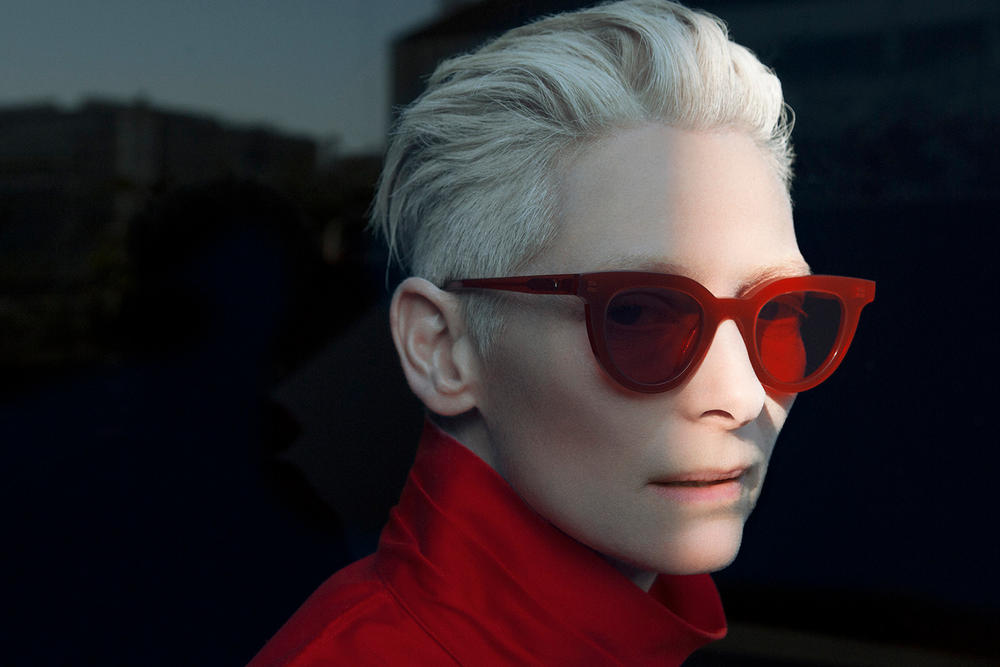 f0632695844a9 The actress has collaborated with the eyewear brand on a sunglass collection.  Tilda Swinton Gentle Monster Eyewear Collaboration