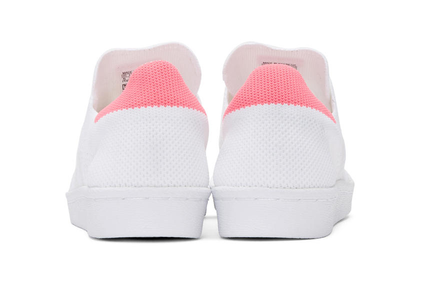 adidas Originals Superstar 80s Primeknit Pink White
