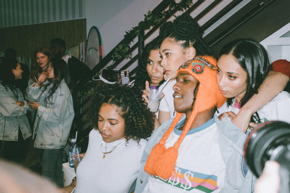 A$AP Rocky GUESS Club Kendall Jenner Pop-Up