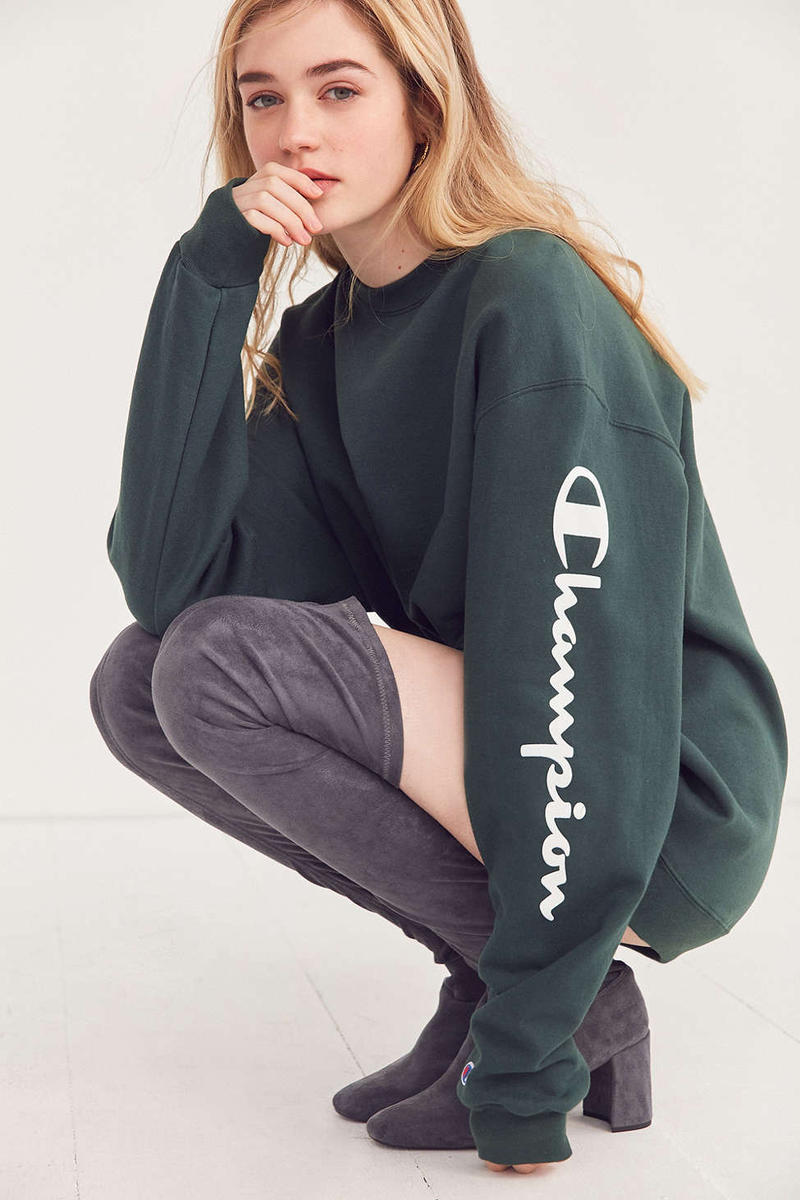 664ab911765 Champion Hits Sleeve of Urban Outfitters Exclusive