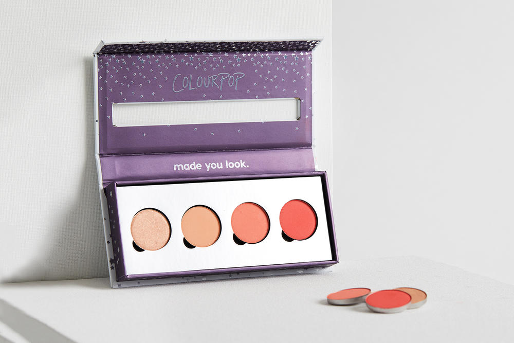ColourPop First Pressed Powder Blush Collection nectar highlighter