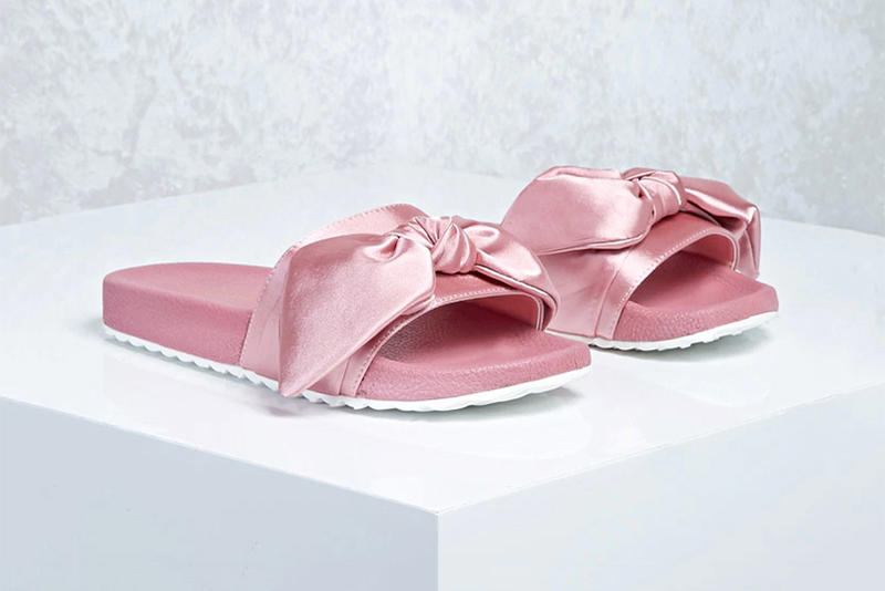 0a24b1041d9f Forever 21 Sells Fenty PUMA Bow Slide Knockoffs