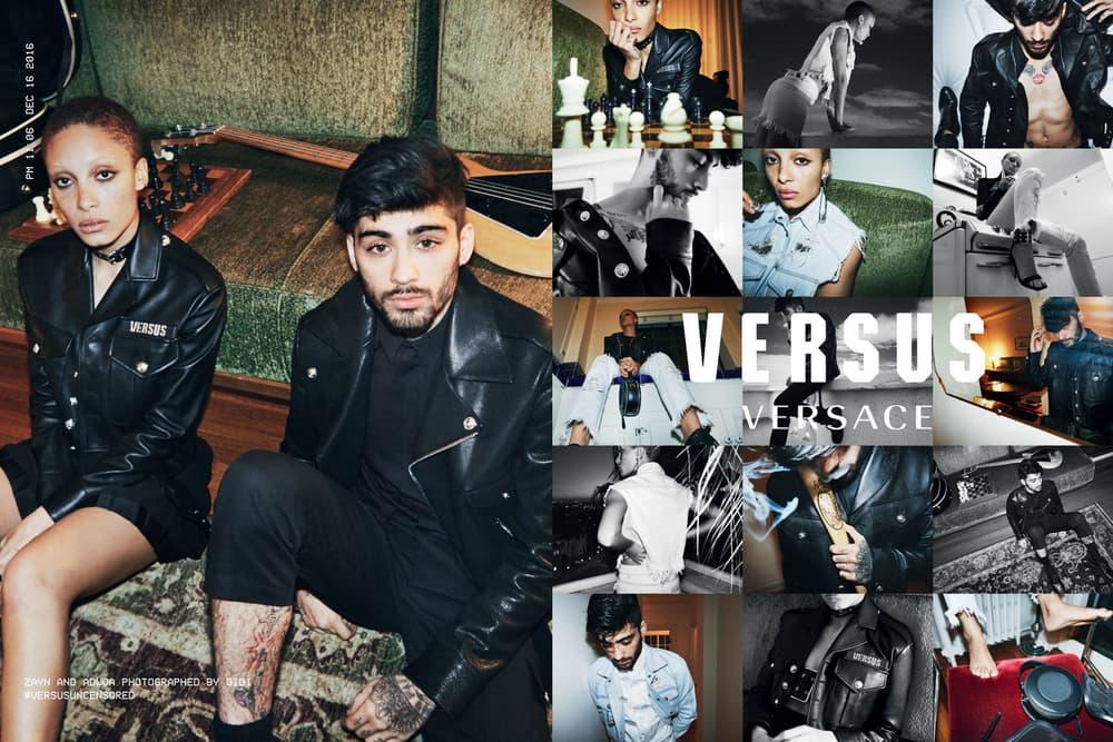 Gigi Hadid Zayn Malik Adwoa Aboah Versus Versace Campaign