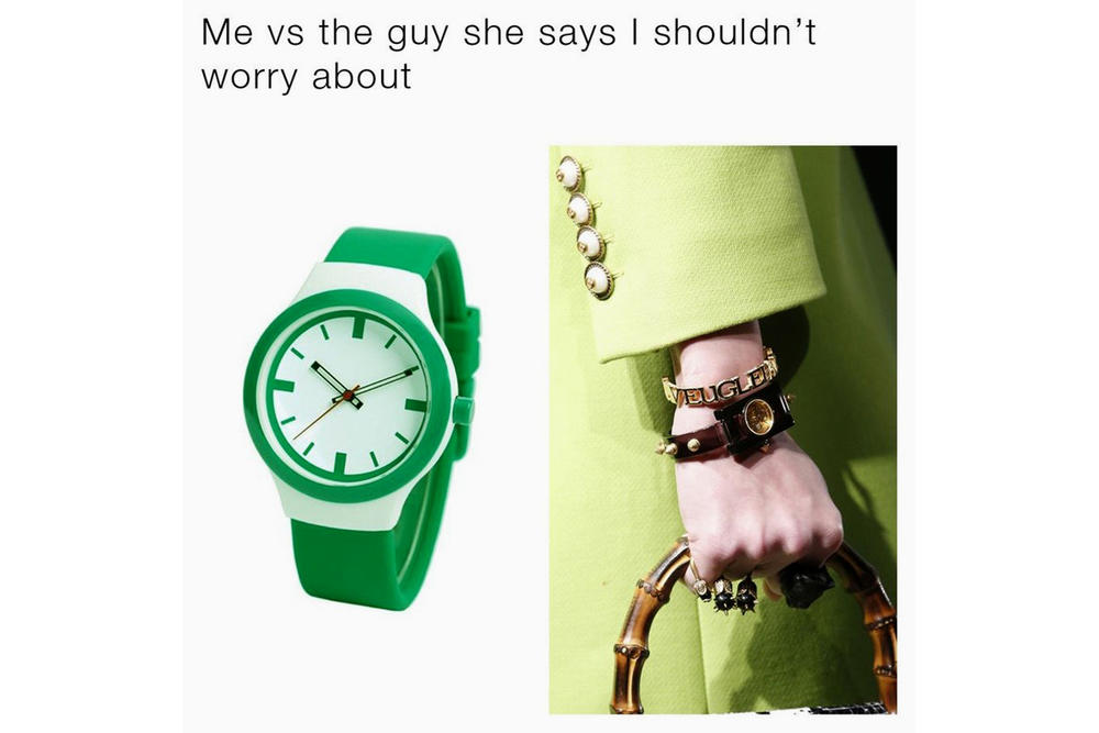 Gucci Memes Watch Collection