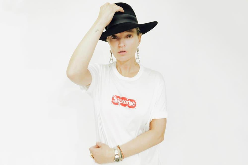 Kate Moss Supreme Louis Vuitton Box Logo T Shirt