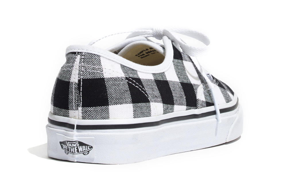 Madewell Vans Gingham Authentic