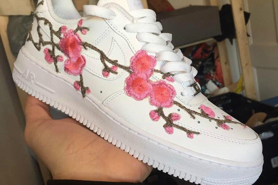 1f75ec0b8e Custom Nike Air Force 1 Cherry Blossom Is Here   HYPEBAE