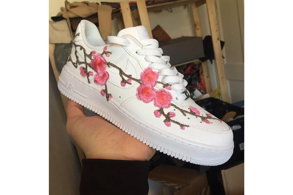 5b11000039b Custom Nike Air Force 1 Cherry Blossom Is Here