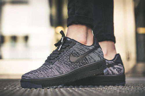 big sale 21b39 7b323 Nike s Air Force 1 Flyknit Low Gets a Scattered Black and White Finish