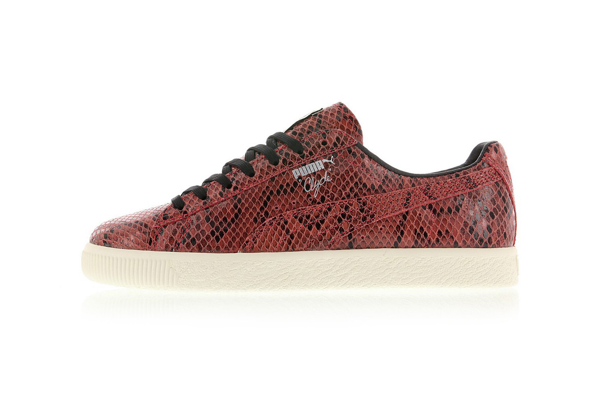 wholesale dealer 70768 7f16b PUMA Clyde Snake Available in Red and Silver | HYPEBAE
