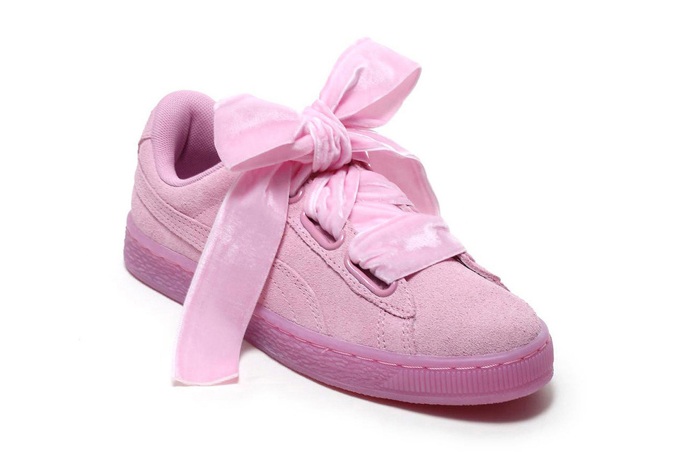 75d2056c532c PUMA Suede Heart Reset Is Wrapped With a Velvet-Topped Bow