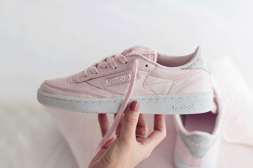 This Reebok Club C Diamond Proves Pink and Grey Sneakers Are a New Thing c31a0d4bb