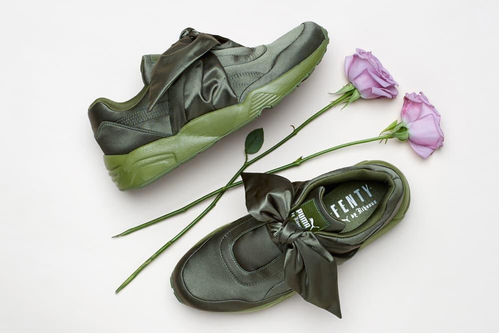 Rihanna Fenty PUMA Green Bow Sneaker