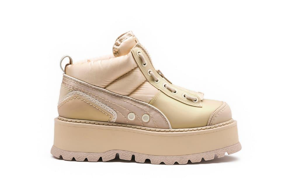 Rihanna Fenty PUMA 2017 Spring Lace Up Heel Sneaker Boots