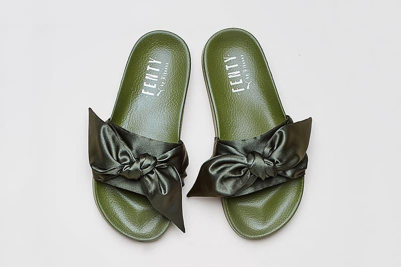 Rihanna Fenty x PUMA Green Bow Slides