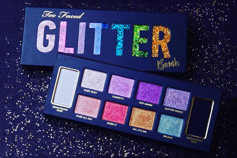 Too Faced Glitter Bomb Eyeshadow Palette Makeup