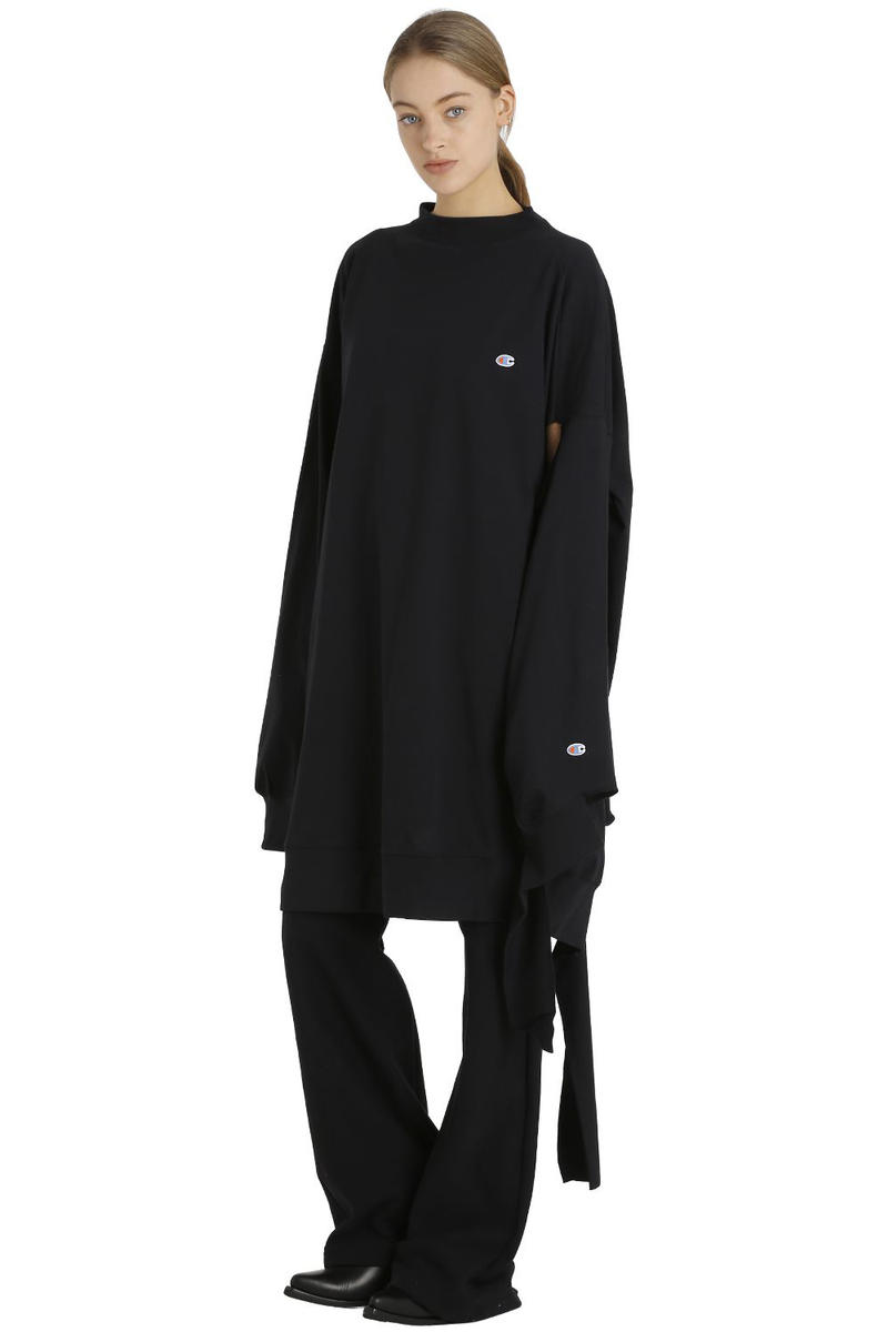 Vetements x Champion Cutouts Sweater Dress
