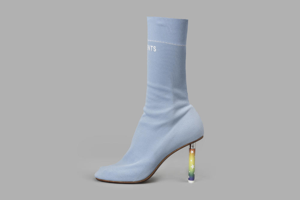 Vetements Sock Ankle Boots Rainbow Lighter Heel