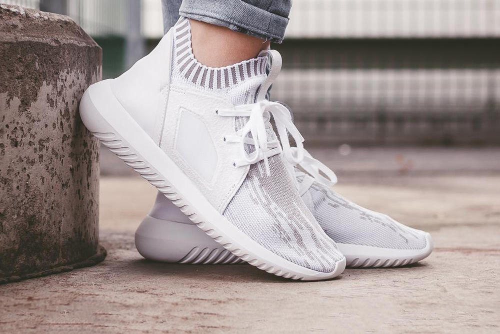 huge discount 45b22 12209 adidas Originals Tubular Defiant Primeknit Clear Granite