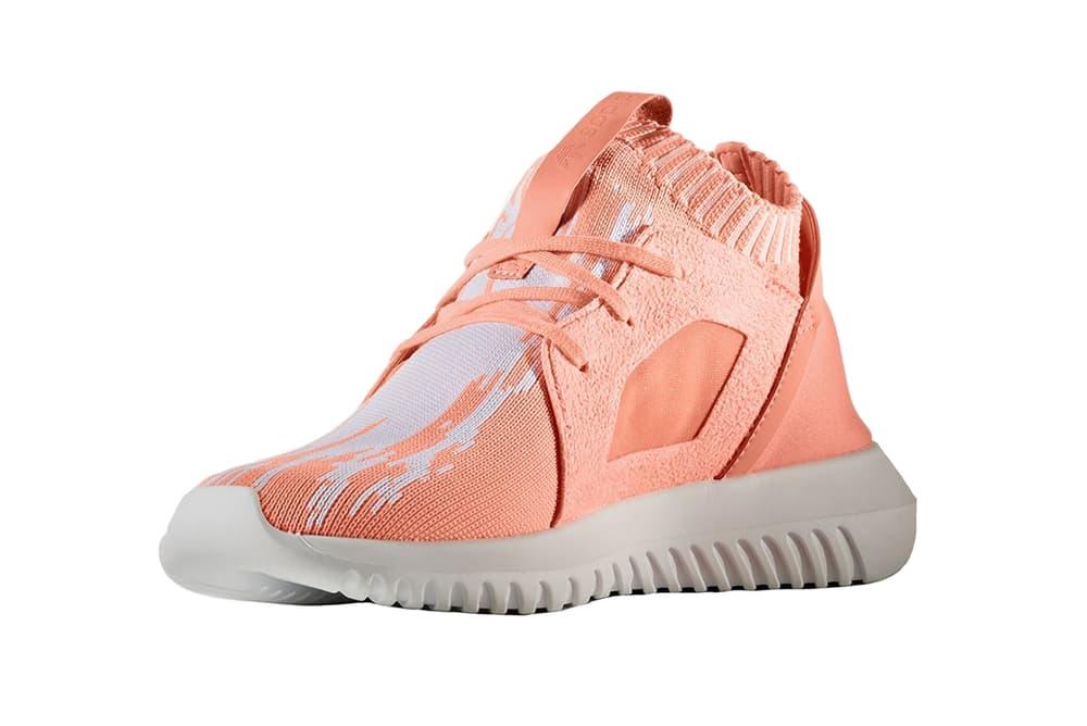 93137907a61f adidas Tubular Defiant Primeknit Sun Glow coral orange pastel