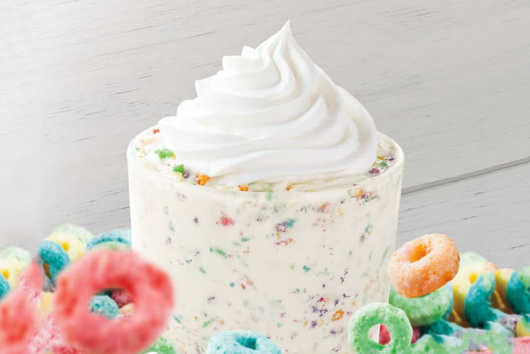 Burger King Froot Loops Milkshake Shake