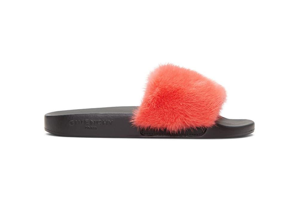 Givenchy Mink Beach Slide Sandal Coral Pink Grey