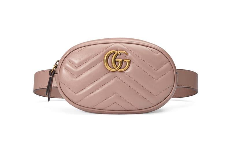 Gucci Marmont Matelasse Leather Belt Bag Fanny Pack