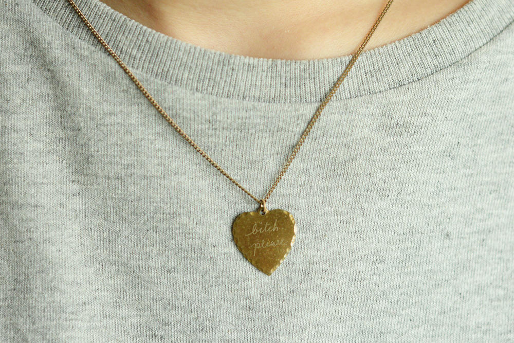 Editor's Pick In God We Trust IGWT Sweet Nothings Brass Necklace Bitch Please