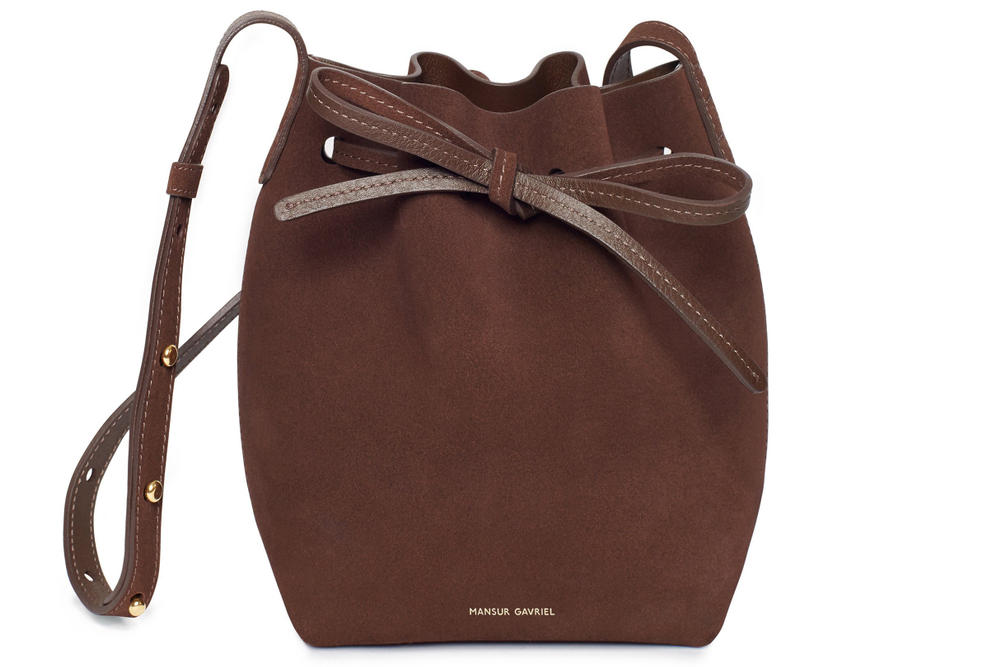Mansur Gavriel Mini Mini Bucket Bag Suede