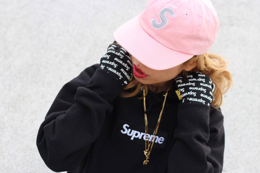 Miho Umeboshi Supreme Collection Box Logo Black Sweater Pink Cap
