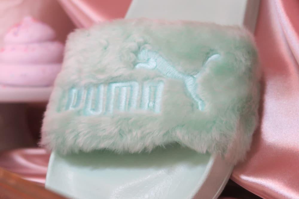 quality design 913af dba4b Fenty PUMA by Rihanna Pastel Mint Fur Slide | HYPEBAE
