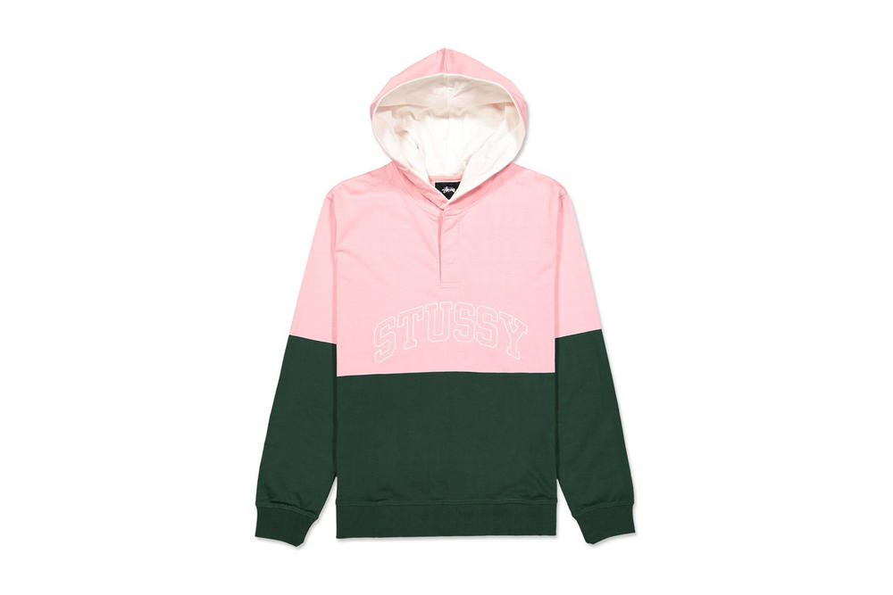 Stussy Block Hooded Jersey Pink Green