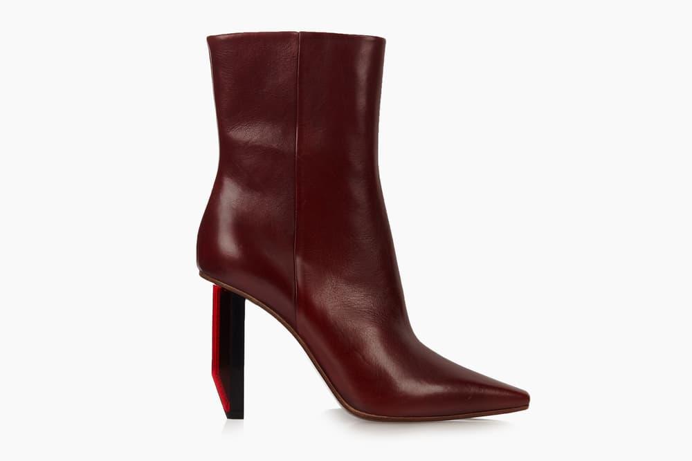 VetementsReflector Heel Leather Ankle Boot Matchesfashion
