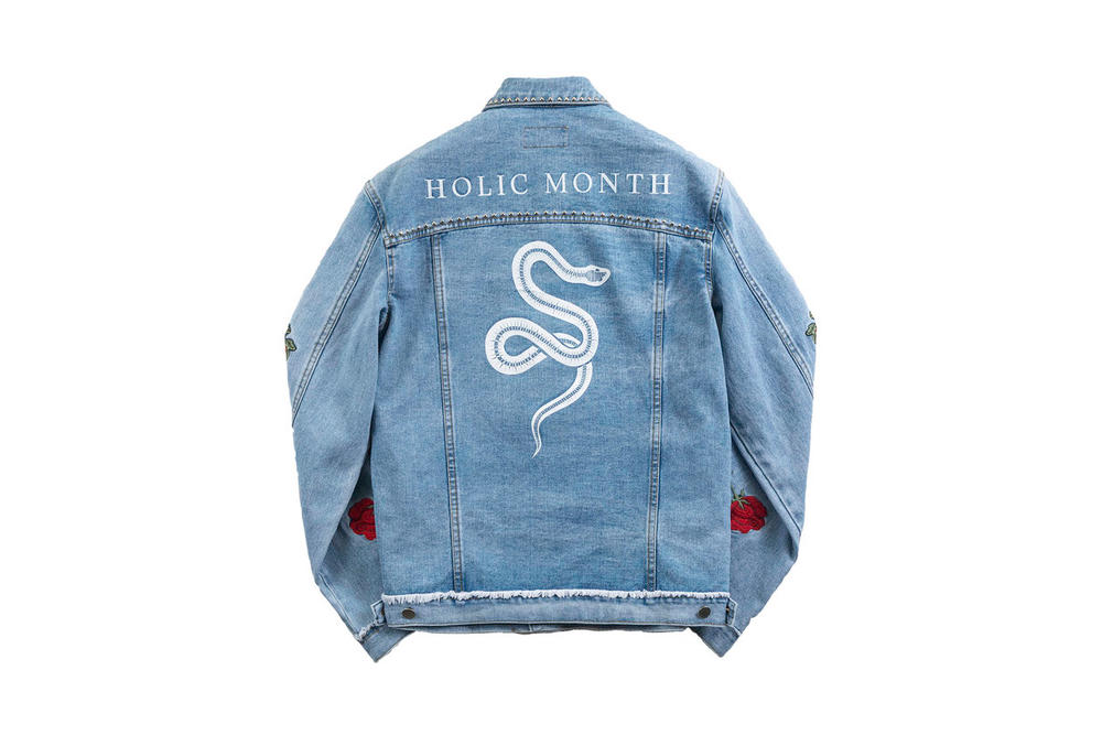 13MONTH Rose Embroidered Denim Jacket