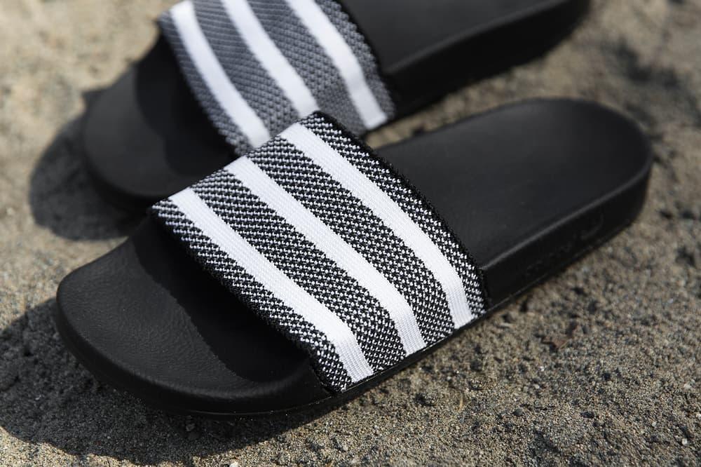 adidas Adilette Primeknit Slide White Black