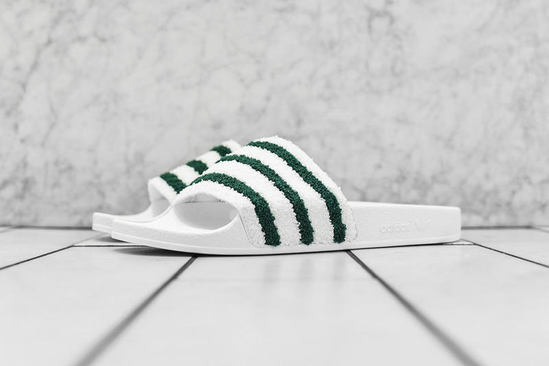adidas Originals Adilette Slide White Green