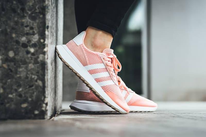 c168d355dd27 adidas flashback pastel pink peach sneakers