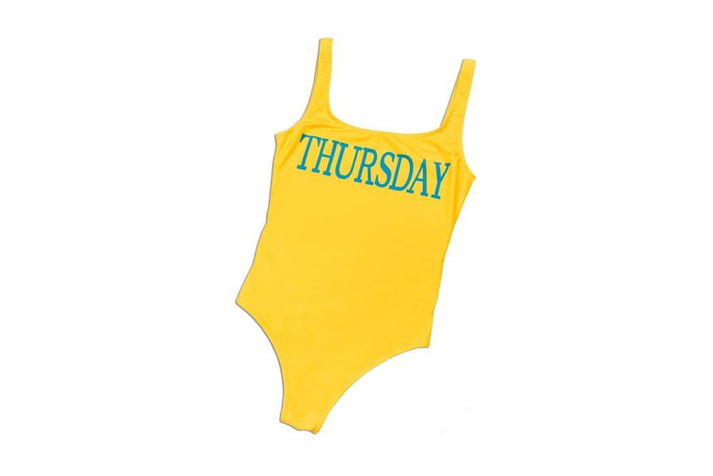 Alberta Ferretti Day of the Week Rainbow Swimsuits