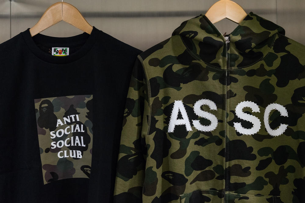 Anti Social Social Club BAPE Collection Launch Collaboration NYC New York City
