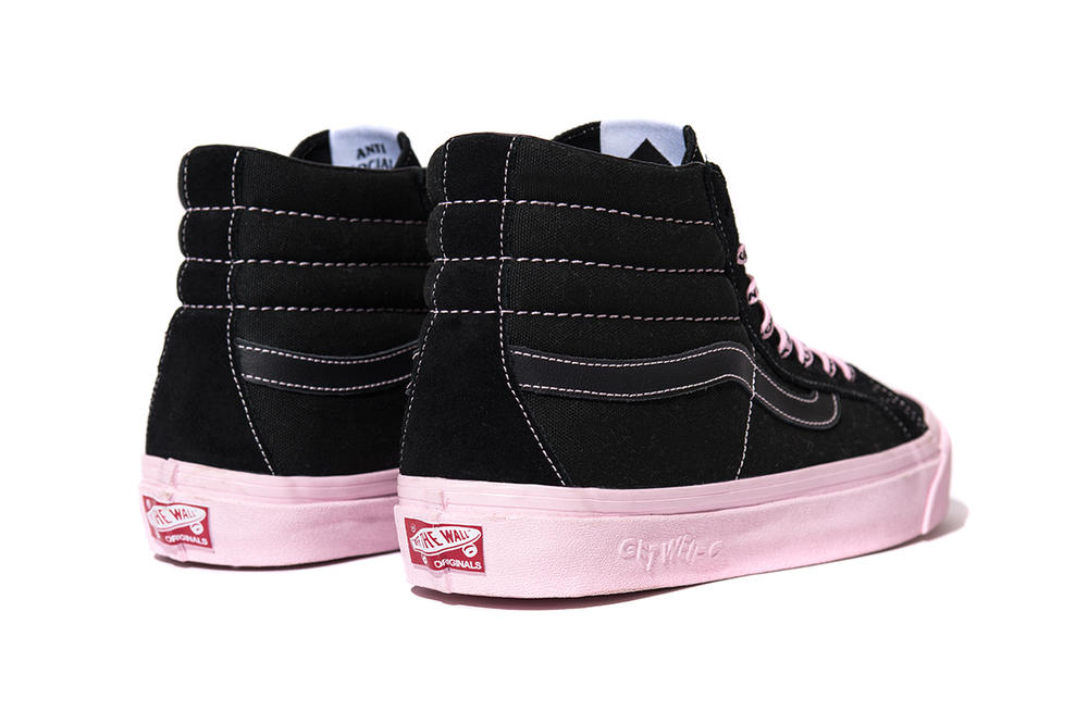 Anti Social Social Club x Vans x DSM Sk8-Hi Authentic Pink