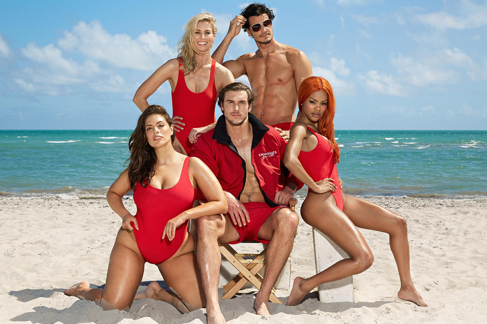 Ashley Graham Teyana Taylor Baywatch Swimsuits For All Campaign
